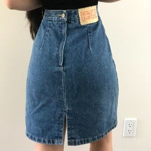 Vintage Bongo customized denim skirt size 25, in g